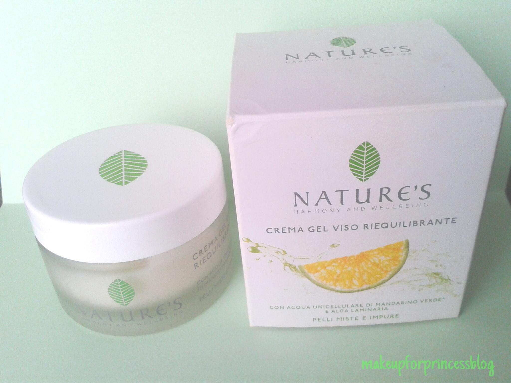 Recensione Nature's crema viso gel riequilibrante per..