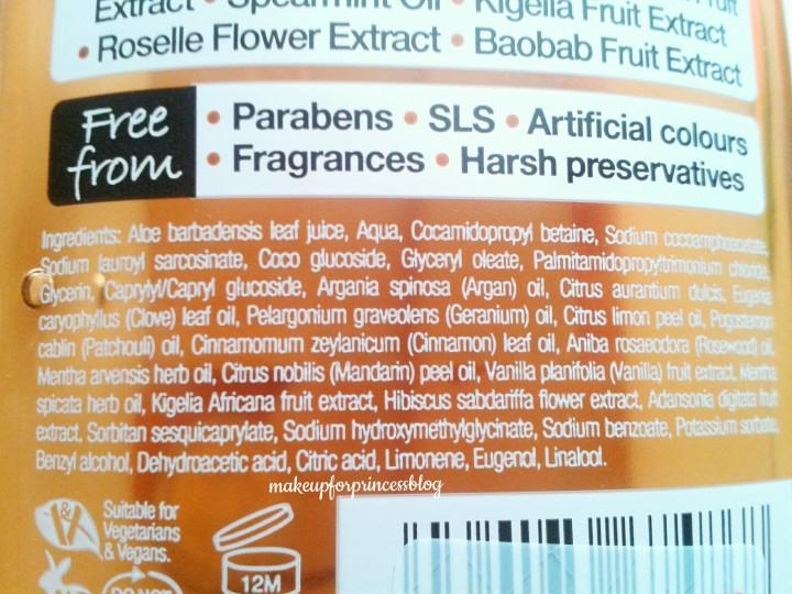 Organic maroccan argan oil shampoo dr.organic opinioni opinione review inci ingredienti bio biologico vegan reidratante