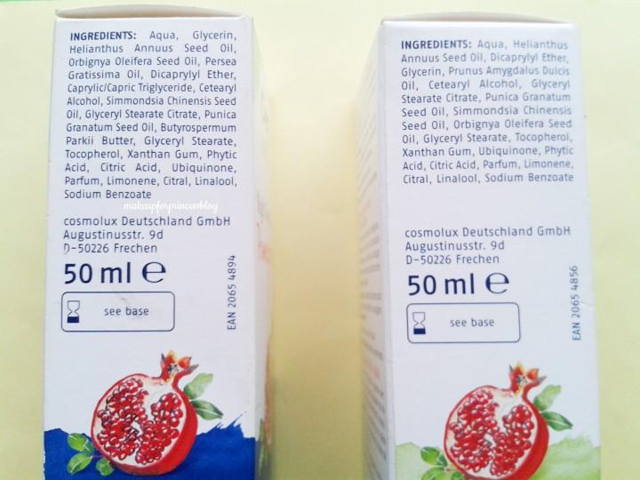 Inci ingredienti creme viso melagrana melograno cien nature lidl economiche