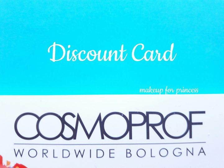 sconto biglietti discount card cosmoprof 2017